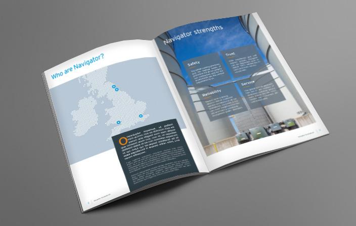 Navigator Terminals Brochure design
