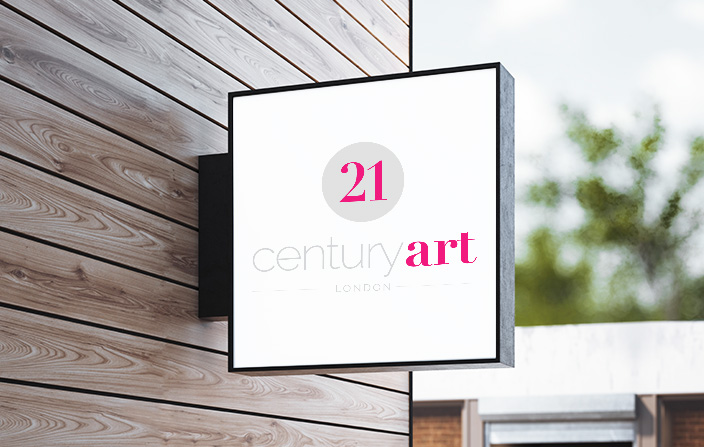 21st Century Art - Logo and website design