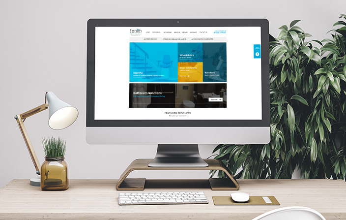 Zenith Mobility Website design